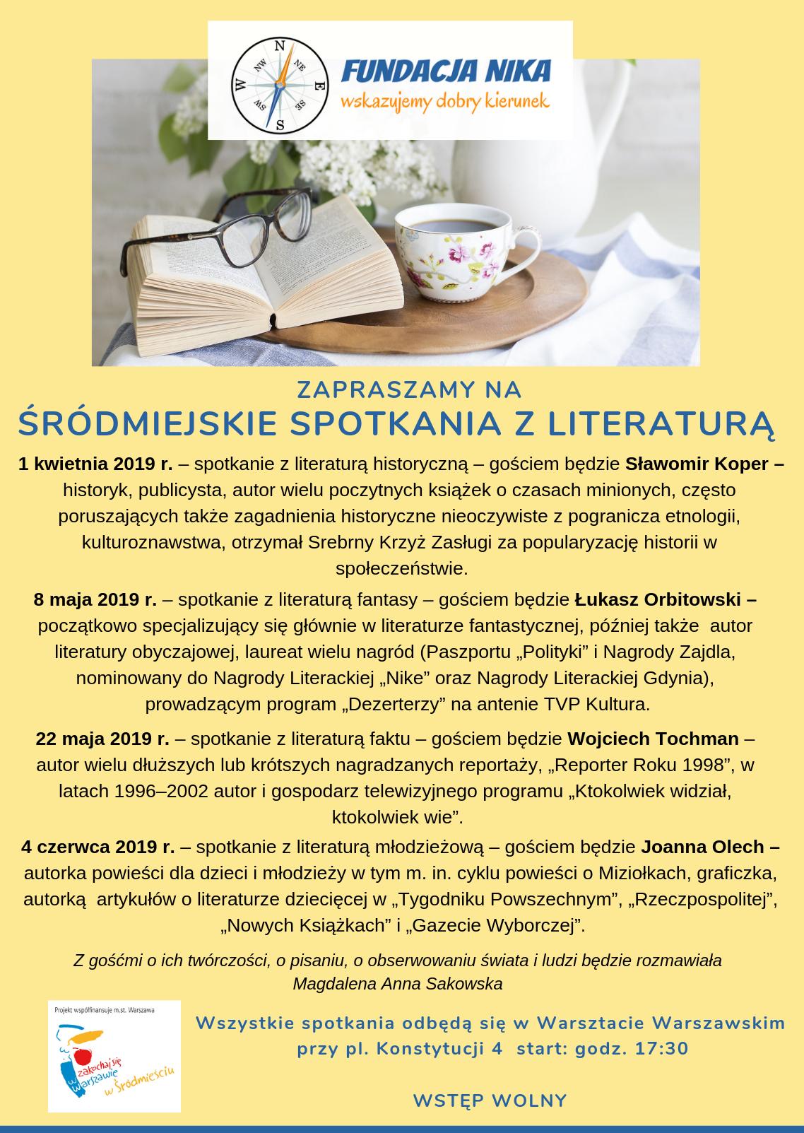 Thumbnail for the post titled: Śródmiejskie Spotkania zLiteraturą