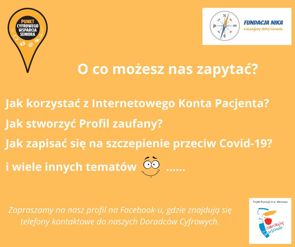 Thumbnail for the post titled: Punkty Cyfrowego Wsparcia Seniora – styczeń 2021